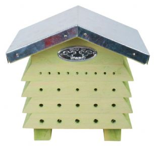 Wooden Beehouse Bee Hive Garden Ornament